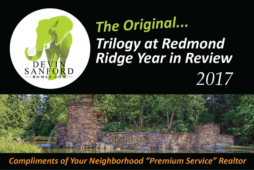 The Orignial Trilogy at Redmond Ridge Year In Review Market Report - Compliments of Devin Sanford Homes