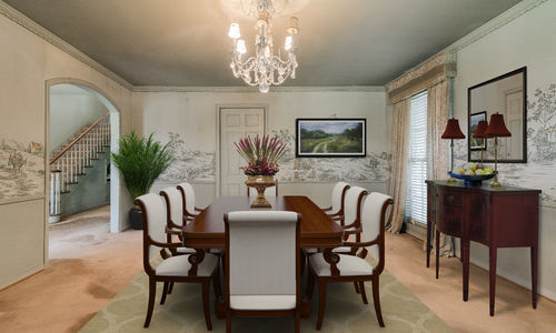 Preston Hollow Home Formal Dining Room