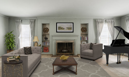 Preston Hollow Home Formal Living Room