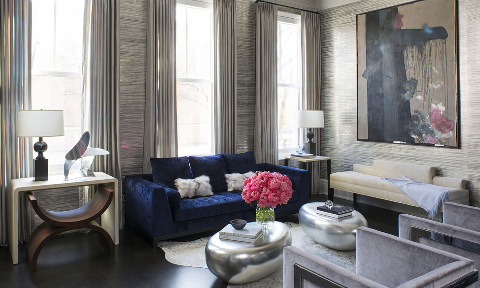 Metallic Wallpaper - Wendy Labrum Interiors