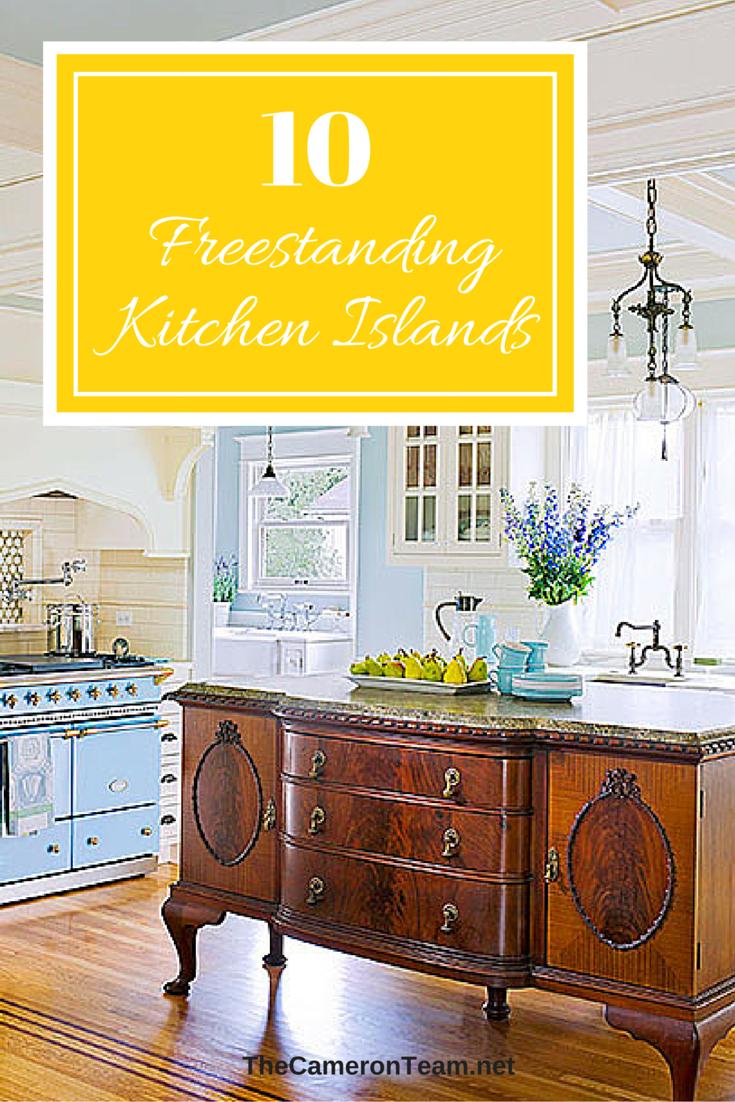 10 Freestanding Kitchen Islands   The Cameron Team