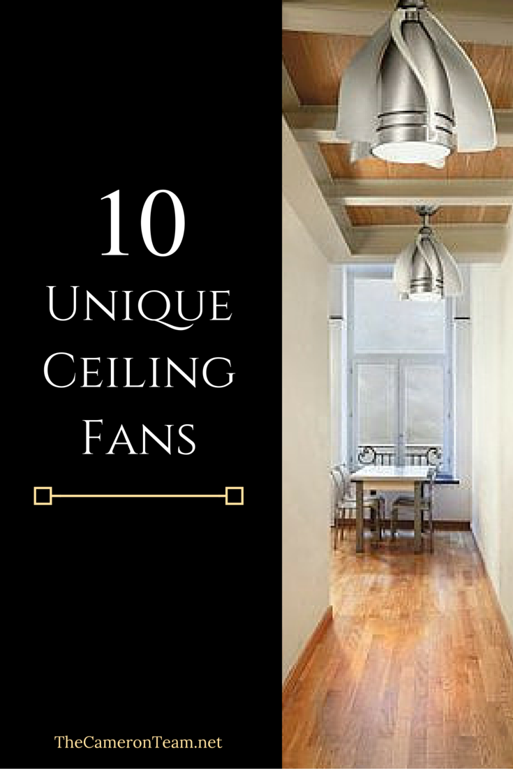10 Unique Ceiling Fans For Your Home The Cameron Team