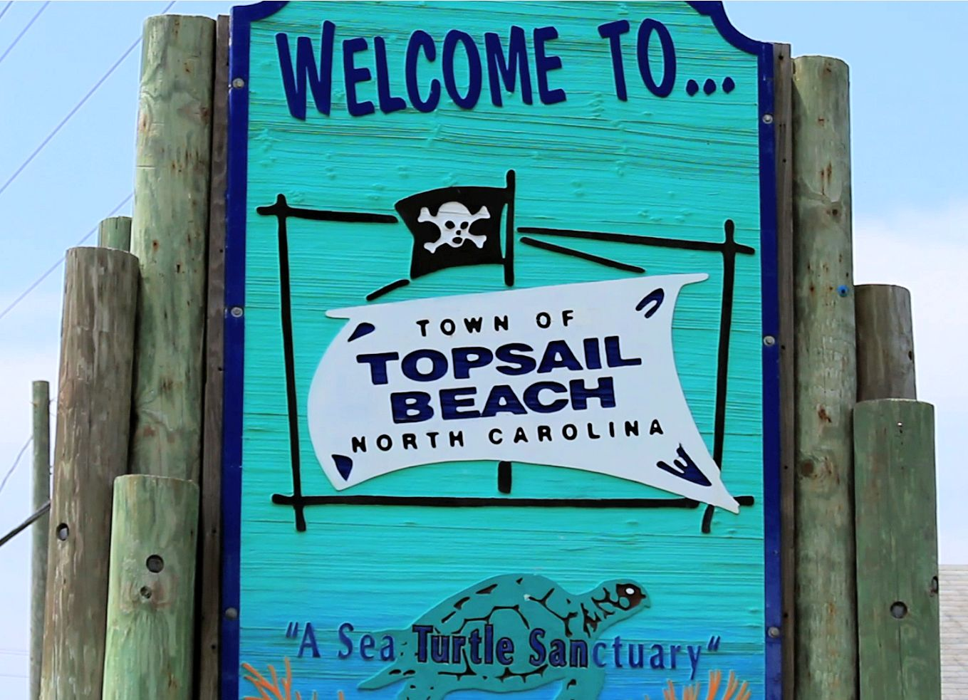 Topsail Beach Sign