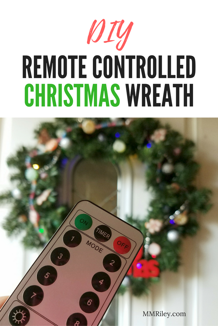 Christmas Wreath Png.Diy Remote Controlled Christmas Wreath The Cameron Team