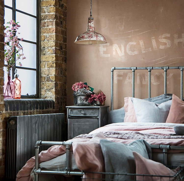 Understated Typography in Bedroom - Carole Poirot and Sophie Bush