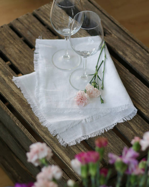 Linen Napkins with Fringe - RPlinen
