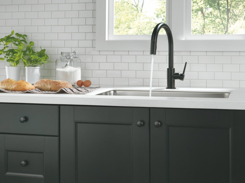 Delta Faucet 9159 Bl Dst Trinsic Single Handle Pull Down Kitchen