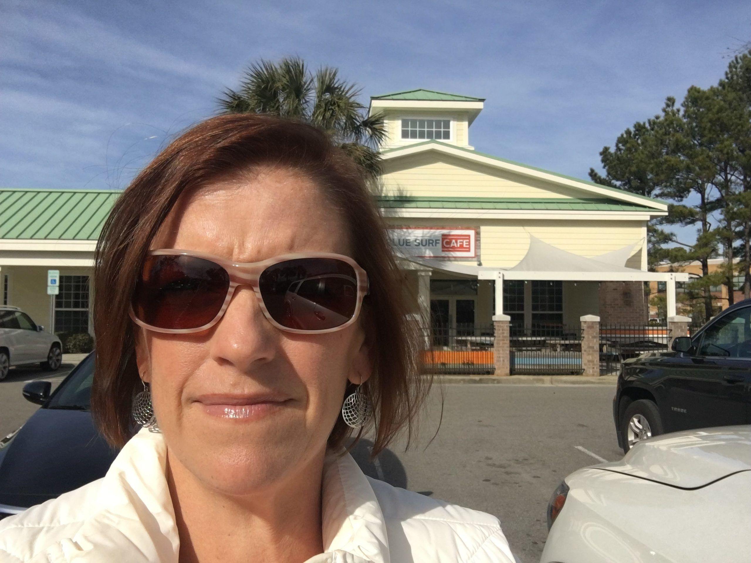Melanie Cameron at Blue Surf Cafe