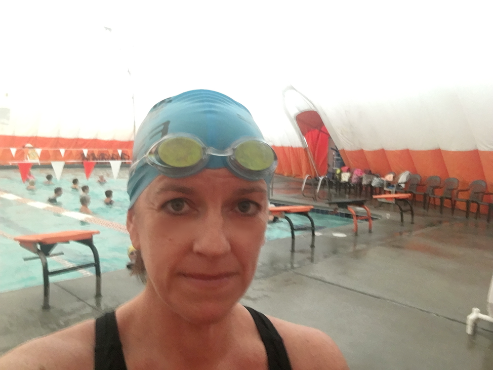 Melanie Cameron at the YWCA Pool