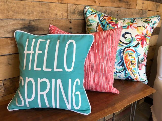 Hello Spring - Cotton Pillow Covers by HearthandHomeStore