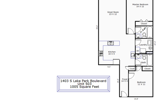 9300 – 1403 S Lake Park Boulevard Unit 503