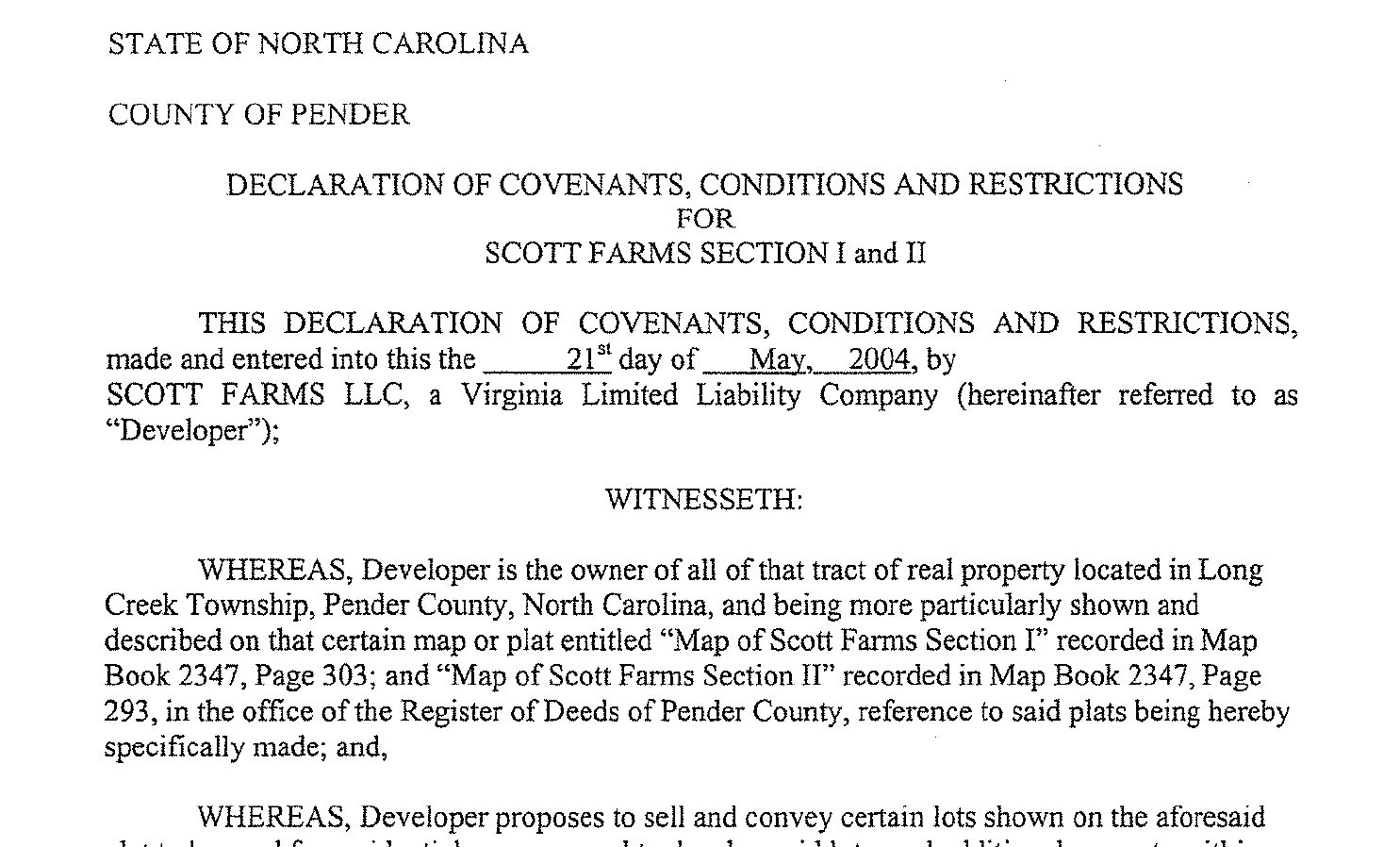 Example Restrictive Covenants The Cameron Team