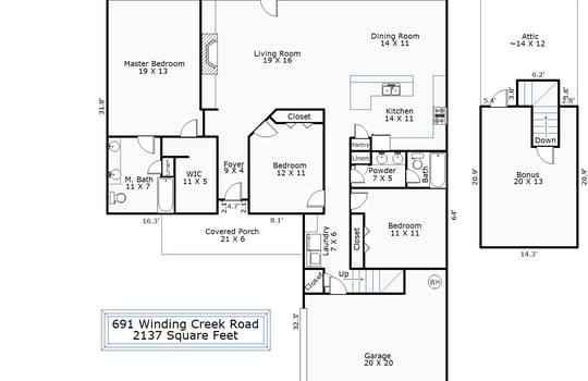 691 Winding Creek Floor Plan