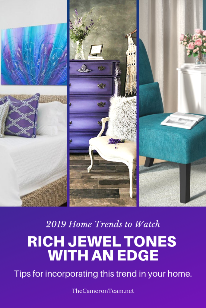 2019 Home Trends to Watch - Rich Jewel Tones with an Edge