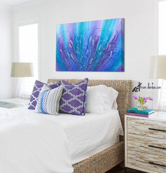 ArtFromDenise - Abstract Flower Painting in Jewel Tones