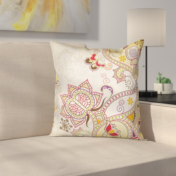 East Urban Home - Modern Waterproof Floral Graphic Print Pillow