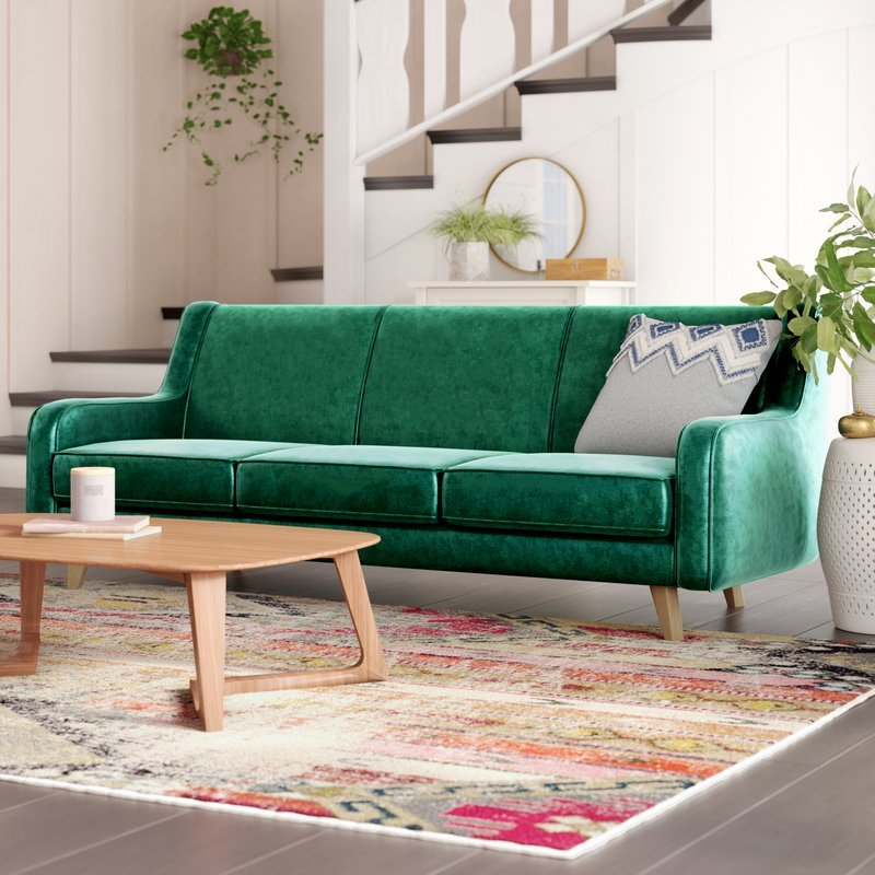 Mistana - Kaye Sofa in Emerald Green