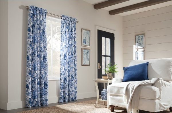 Red Barrel Studio - Loader Floral Room Darkening Thermal Rod Pocket Curtain Panels