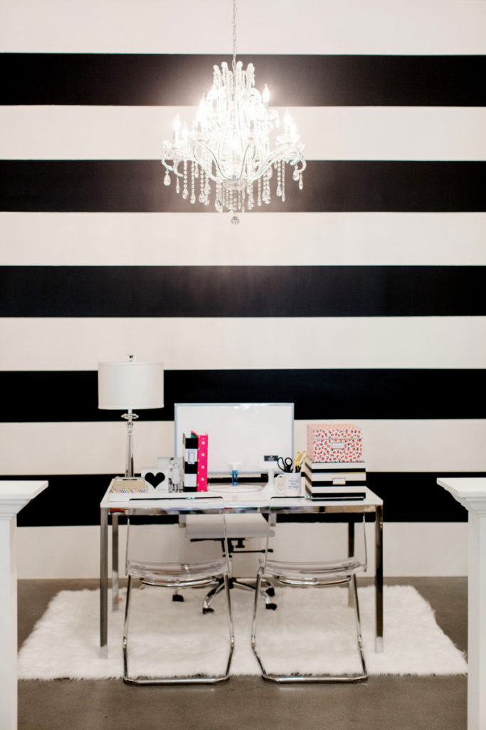 TomKat - Black and White Striped Wall - Kim Stoegbauer
