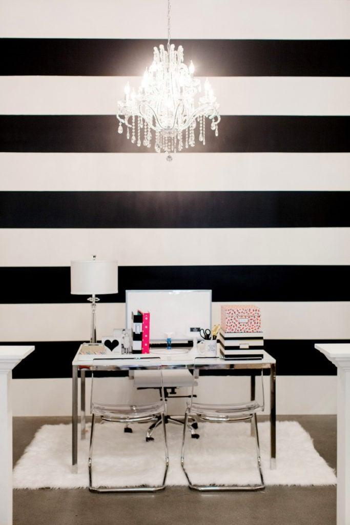 TomKat - Black and White Striped Wall - Kim Stoegbauer