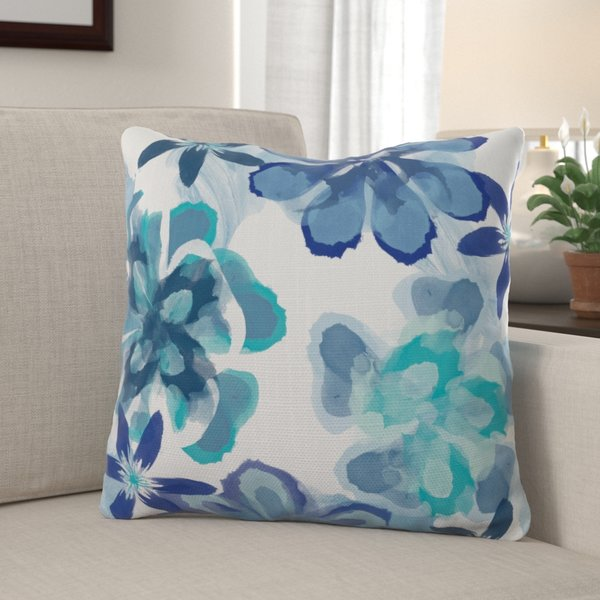 Winston Porter - Markley Floral Print Throw Pillow