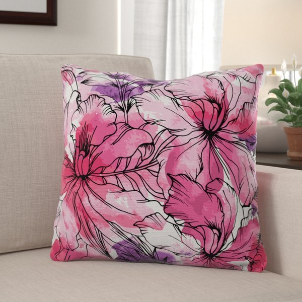 Winston Porter - Marez Floral Print Throw Pillow