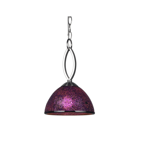 Woodbridge Lighting - Mini Pendant with Mosaic Glass Dome Shade