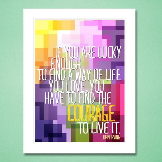cardvarkdesigns - John Irving Quote