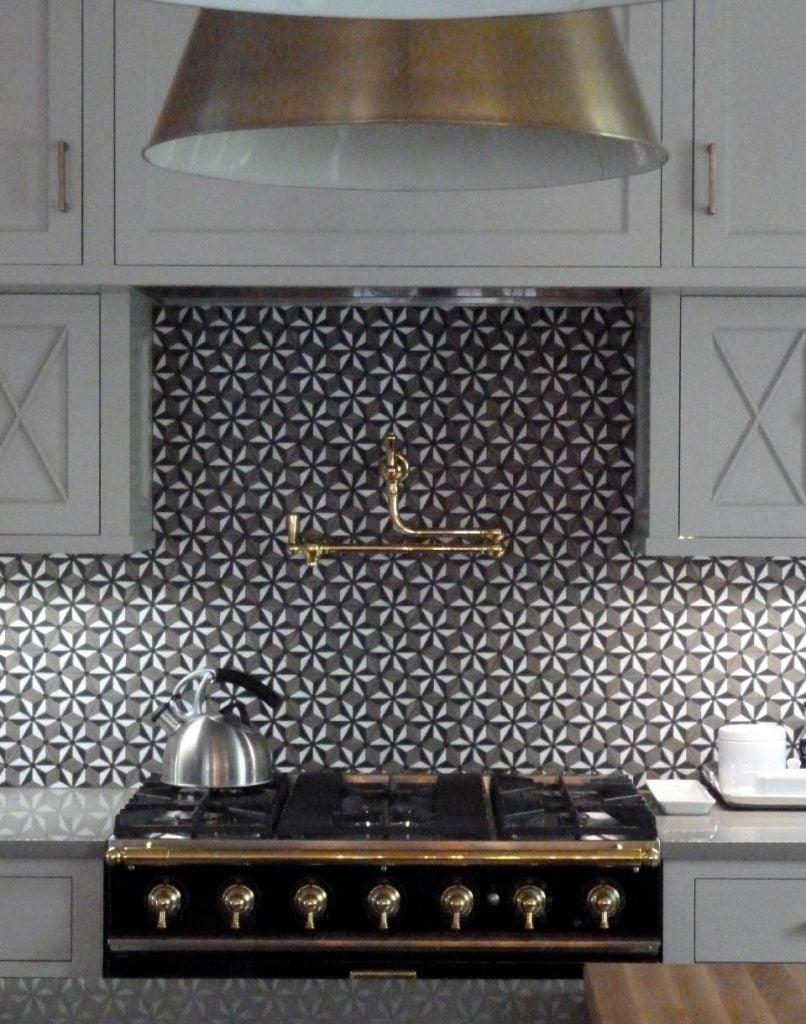 Alecia Stevens Interiors - Bold Pinwheel Tile Backsplash