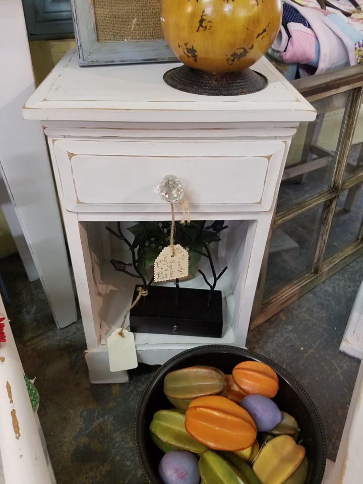 Baker Street Curiosity Shop - Shabby Chic End Table
