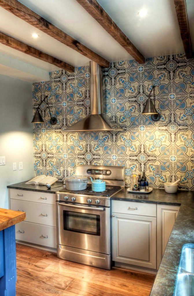 Buckminster Green - Bold Moroccan Tile Backsplash