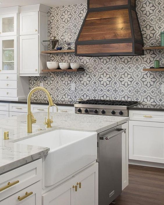 Cement Tile Shop - Boldly Patterned Backsplash