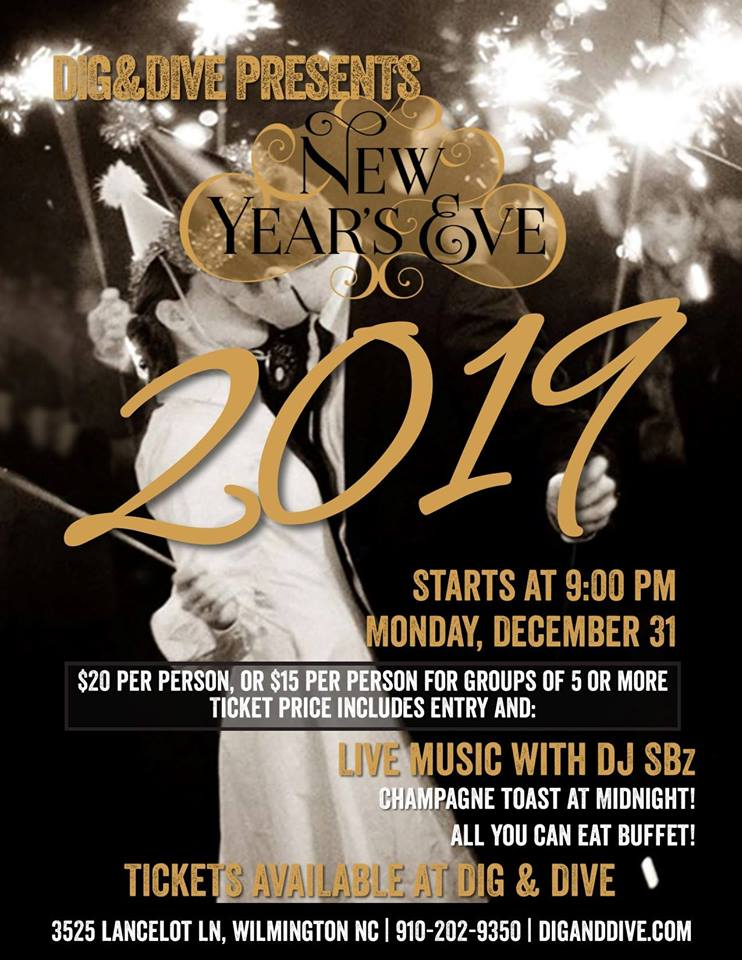 Where to Celebrate New Year's Eve in Wilmington NC