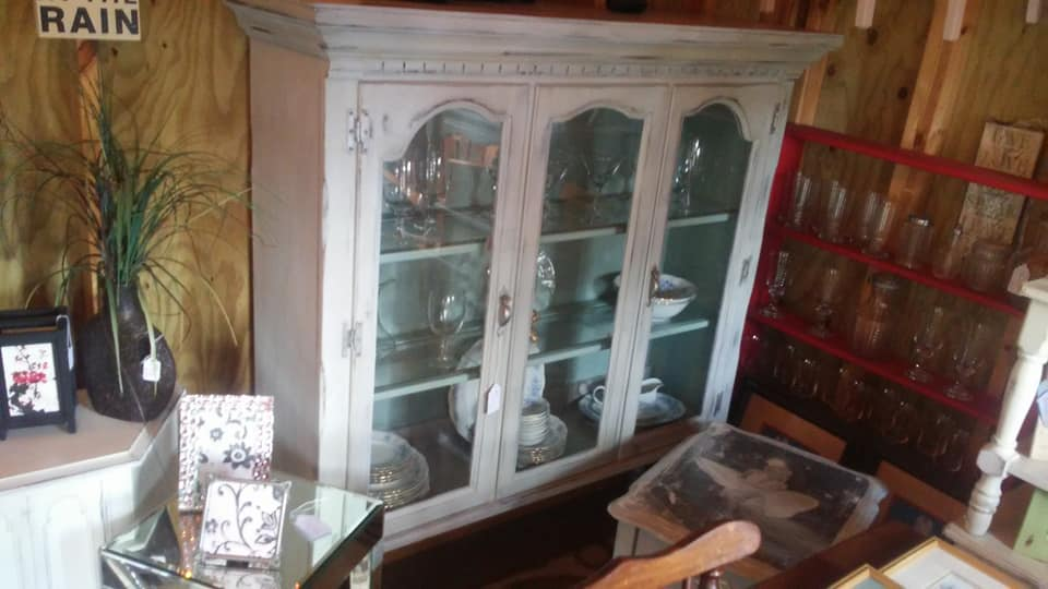 Recollections Vintage Village - Shabby Chic China Cabinet