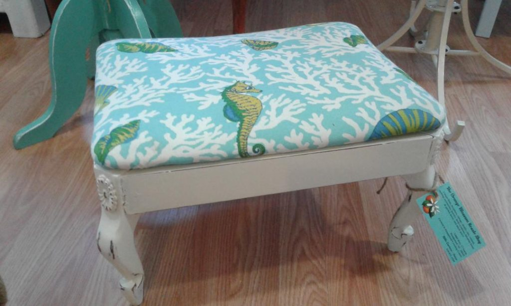 The Orange Blossom - Seahorse Foot Stool