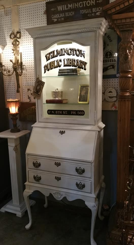 Vintage Marketplace - Wilmington Public Library Writing Desk