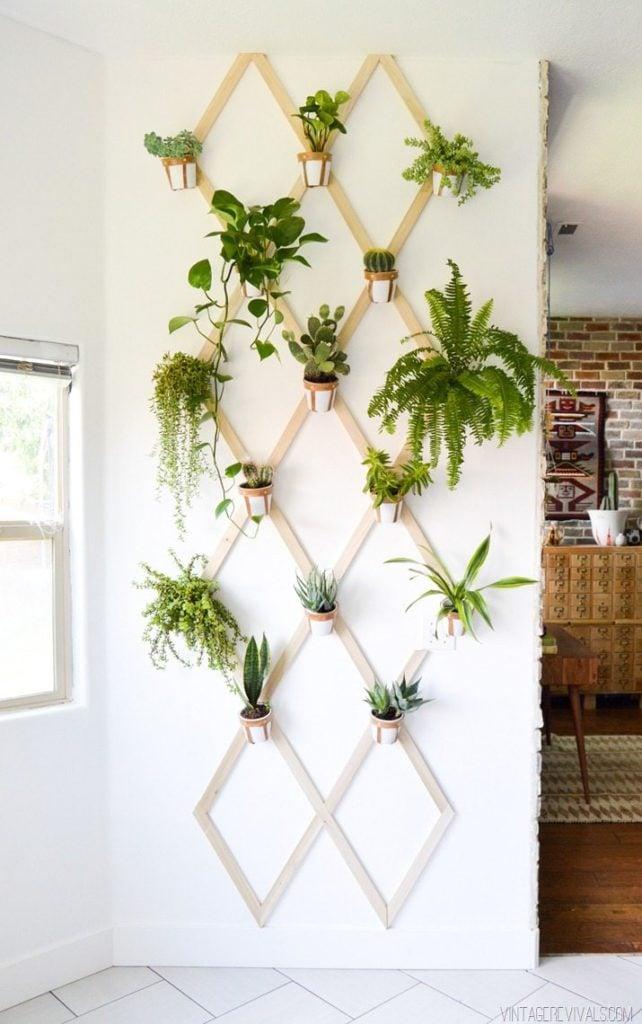 Vintage Revivals - DIY Indoor Leather Wall Trellis