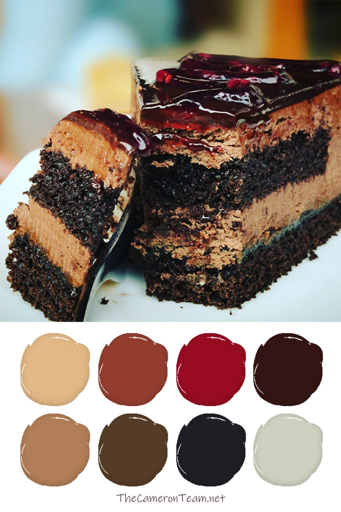 Chocolate Berry Cake Paint Color Palette - The Cameron Team