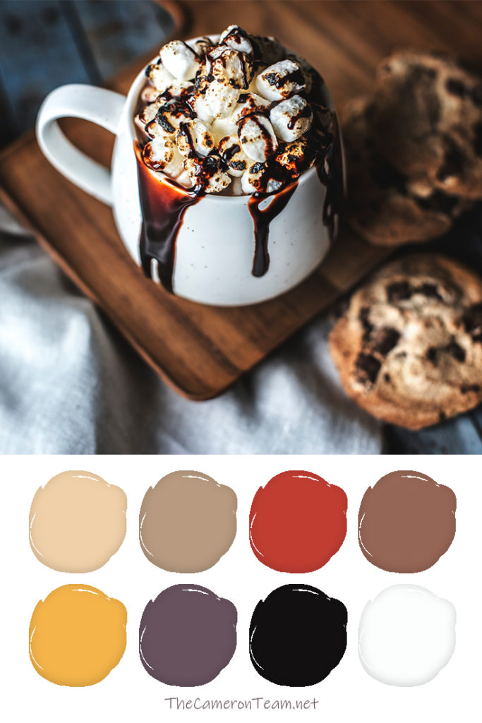 Cookies and Cocoa Paint Color Palette - The Cameron Team
