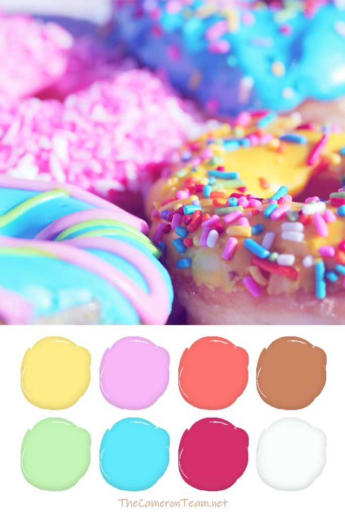 Donuts Paint Color Palette - The Cameron Team