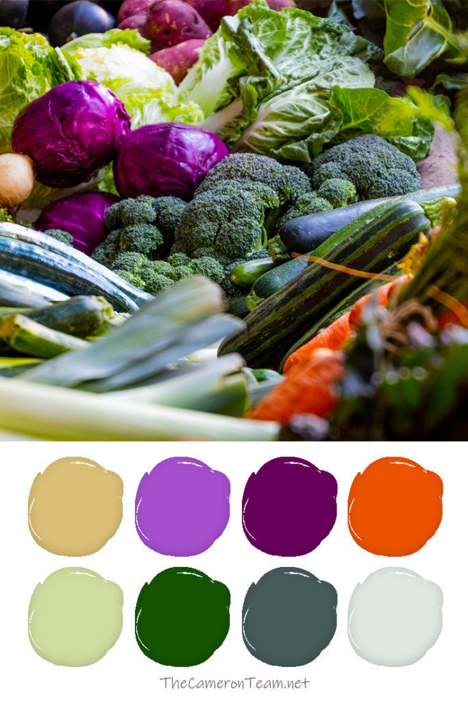 Mixed Vegetables Color Palette - The Cameron Team
