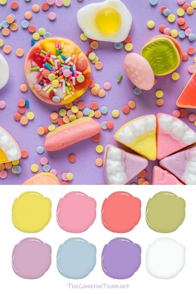Pastel Candies Paint Color Palette - The Cameron Team