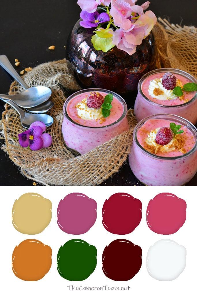 Raspberry Cream Paint Color Palette - The Cameron Team