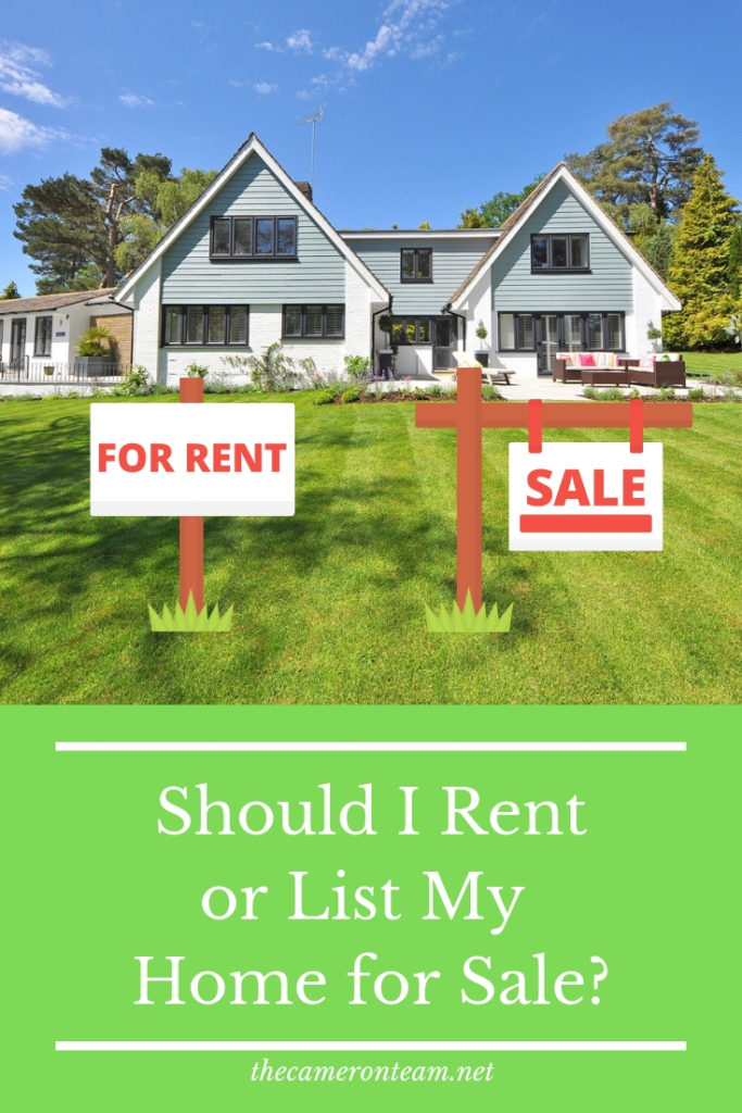 Should I Rent or List My Home for Sale?