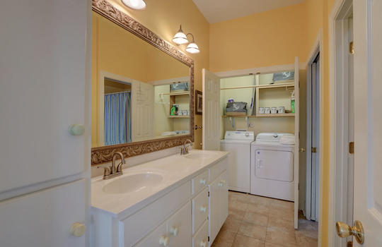 Main Floor Bathroom and Laundry Closet