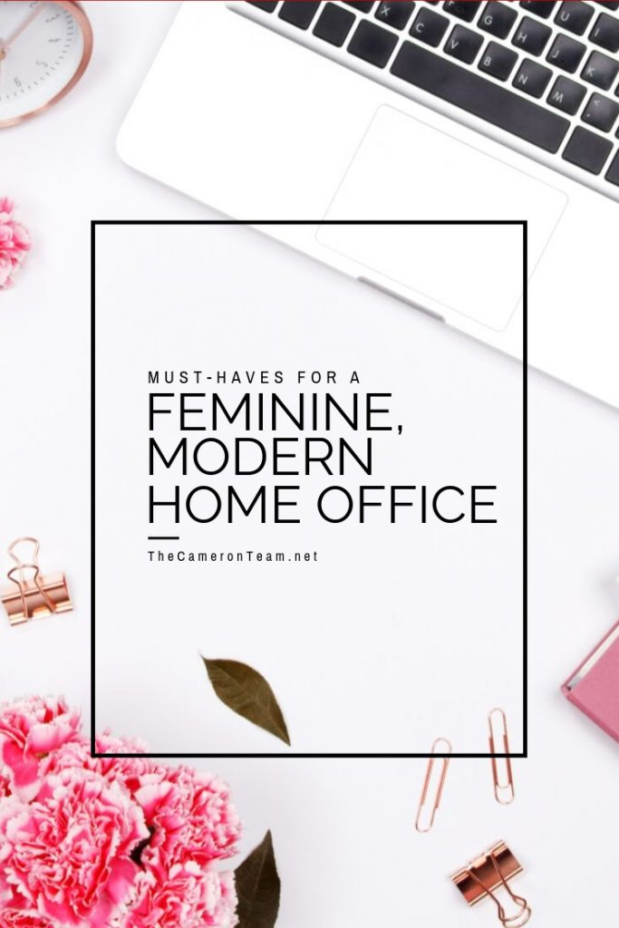 Must-Haves for a Feminine, Modern Home Office