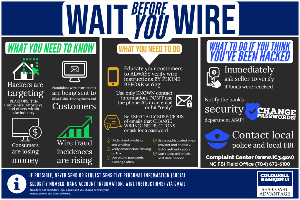 Wait Before You Wire - Coldwell Banker Sea Coast Advantage Advantage