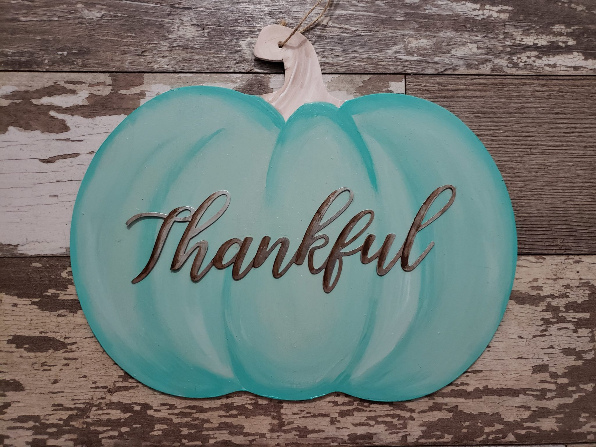 DIY Painted Teal Pumpkin - Mama Dares to DIY