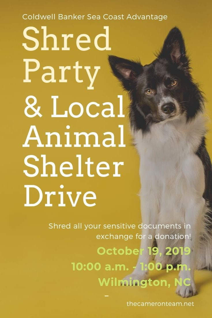 Shred Party & Local Animal Shelter Drive - October 19th - Wilmington NC (1)