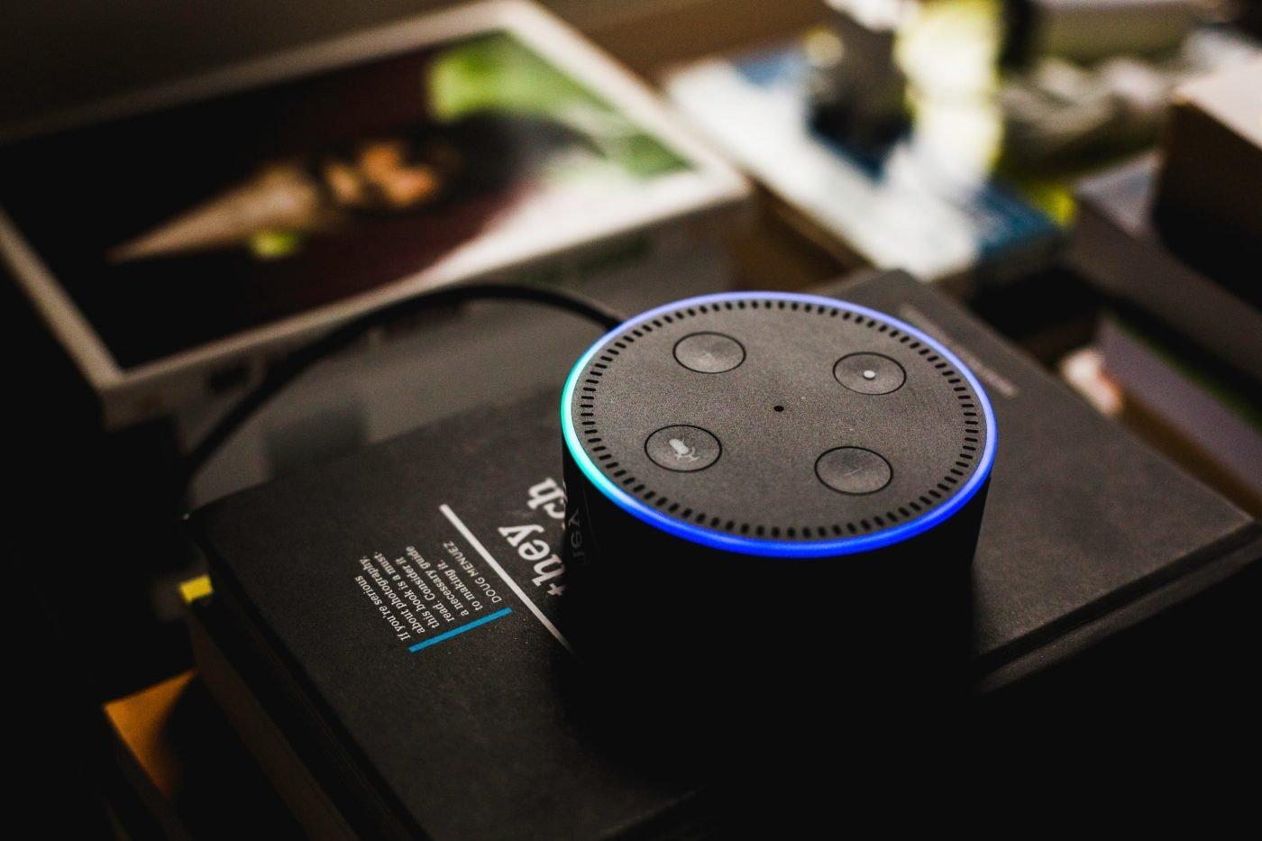 Amazon Echo Dot with Alexa by Andres Urena via Unsplash